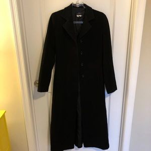 Zara Black Wool Full Lenght Coat